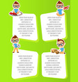 banner with funny cartoon kids template vector image vector image