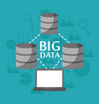 big data server storage information transfer vector image