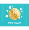 bitcoin exchange with currency icons vector image vector image