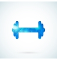 Blue barbell background