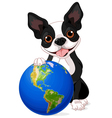 Boston Terrier Earth Day vector image