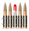 bullet belt with lipstick vector image vector image