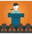 Businessman giving a presentation vector image vector image