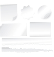 collection various white note papers on white b vector image vector image