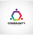 colorful join community logo symbol icon vector image vector image
