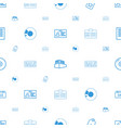 copy icons pattern seamless white background vector image vector image
