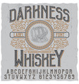 darkness whiskey poster vector image vector image