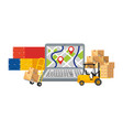 delivery and transport elements vector image