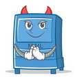 devil mailbox character cartoon style vector image vector image