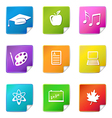education sticker icons vector image vector image