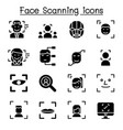 face detection face recognition face scanning vector image vector image