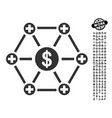 financial medical network icon with job bonus vector image