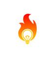 fire bulb logo vector image