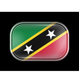 Flag of Saint Kitts and Nevis Rectangular Shape vector image