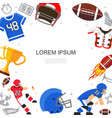 flat american football concept vector image vector image