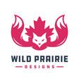 fox animal logo design and symbol canada vector image vector image