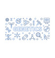 genetics outline horizontal or vector image vector image