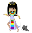 girl egyptian vector image