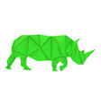 green rhinoceros polygonal vector image vector image