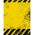 grungy caution vector image vector image
