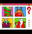 guess xmas characters and objects game for vector image