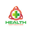 health trilogy logo designs vector image vector image