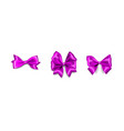 holiday satin gift bow knot ribbon lavender lilac vector image