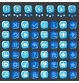 Ice game and levels buttons vector image vector image