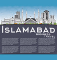 islamabad skyline with gray buildings blue sky vector image vector image