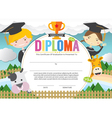 Kids Diploma Certificate Template vector image vector image
