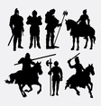 Knight male warrior silhouette vector image