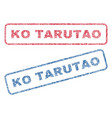 ko tarutao textile stamps vector image vector image