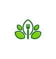 leaf food logo icon design vector image