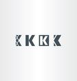 letter k set logo icon elements vector image