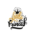 Little Princess Calligraphy gold paint similar vector image vector image