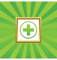 Medical sign picture icon 2 vector image vector image