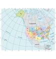 north america administrative map vector image