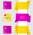 notes and labels set vector image vector image