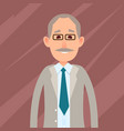 old male character with mustache vector image vector image