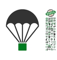 Parachute Icon With Bonus vector image vector image