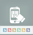 piano application icon vector image