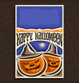 poster for halloween vector image vector image