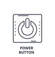 power button line icon concept power button vector image