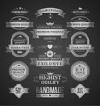 premium products labels logos set vintage vector image