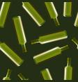 realistic detailed olive oil glass bottle set vector image vector image