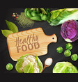 realistic vegetables background vector image vector image