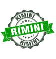 rimini round ribbon seal vector image vector image