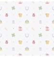 Seamless pattern with Lucky Charms vector image vector image