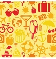 seamless pattern with summer icons vector image vector image