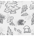 seamless texture with image funny little vector image vector image